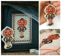 Vintage Halloween Jack o Lantern Cross Stitch by TheElfinForest