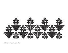 Decorative Frank Lloyd Wright Designed Laser Cut Stencil