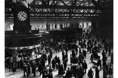 Glasgow's main train station, 1920