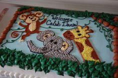 1/4 sheet cake jungle theme | Angela Barton's Cakes: October 2012