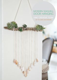 Modern Seashell Door Hanging | Up To Date Interiors