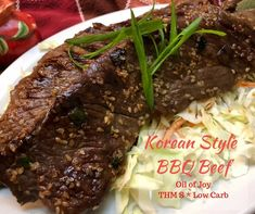 """Korean Style Beef BBQ - (S) """"For such incredible flavor, this Korean style BBQ beef comes together so quickly and easily! I love a dish that appears and tastes like I have put a lot of work into it, yet it really took me minutes of prep to have a wonderful dinner on the table for my family!"""" Tina, Oil of Joy www.TrimHealthyMama.com"""