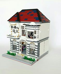 no-age-for-play : Photo Lego Modular, Cool Lego Creations, Lego Architecture, Lego Creator, Lego Moc, Lego Building, Legos, Cube, Buildings
