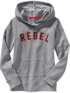 Girls Graphic Pullover Hoodies