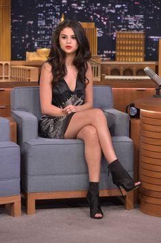 Selena Gomez legs Photos - Selena Gomez Visits 'The Tonight Show Starring Jimmy Fallon' - Zimbio