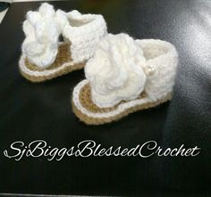 Beautiful crochet sandals by me