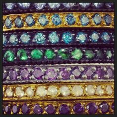 Diamonds, sapphires and gold - Oh my! #yossiharari #stack #rings #diamonds #sapphires #gold