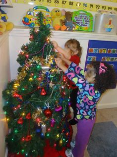 A little tree in the classroom for decorating and un-decorating all month long