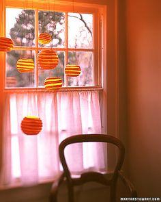 Pumpkin Craft: Hanging Pumpkin Lights