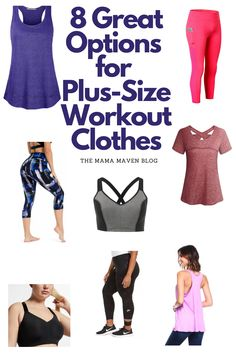 8 Great Options for Plus Size Workout Clothes (And They're Cute!) #workouts #plussize #plussizefashion #plussizeworkoutclothes #workoutclothes #fitness Plus Size Yoga, Plus Size Workout, Fitness Activities, High Rise Pants, Cute Tops, Workout Shirts, Fitness Fashion, Plus Size Fashion, Workouts