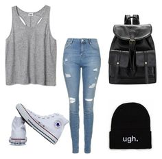 """Untitled #22"" by katrinawells on Polyvore featuring Topshop and Converse"