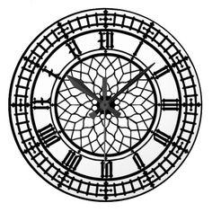 L'horloge murale de l'amant de Big Ben Grande Horloge Ronde