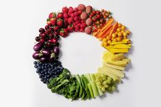 Eating foods in every color of the rainbow is great for long term health & wellness!