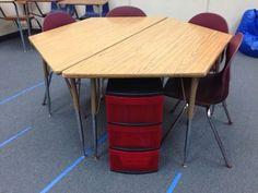 Classy EdTech : Trapezoid table desks! | Clean Cut Classroom ...