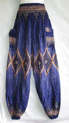 New Genie Hippie Aladdin Alibaba Gypsy Boho Harem Pants Beach Trouser Woman Girl Gypsy Style, Boho Gypsy, Hippie Style, Gypsy Men, Hippie Shop, Gypsy Pants, Hippie Pants, Bohemian Pants, Vetement Hippie Chic