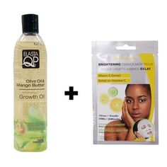 Elasta QP Olive Oil & Mango Butter anti-breakage Growth Oil 8oz w/ FREE Nicka K Brightening Essence Mask by ElastaQP. $10.49. Whole Bottle SEALED. A Perfect multi- purpose oil for dry hair, scalp & skin. Helps reduce breakage, split-ends and dryness shile adding strength and moisture to even the most dry, brittle hair.A Perfect multi- purpose oil for dry hair, scalp & skin. FREE Nicka K Brightening Essence Mask 1 sheet !!. Apply generously to brittle hair and dry sca...
