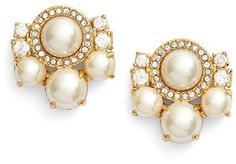 Women's Kate Spade New York Pearls Of Wisdom Cluster Stud Earrings