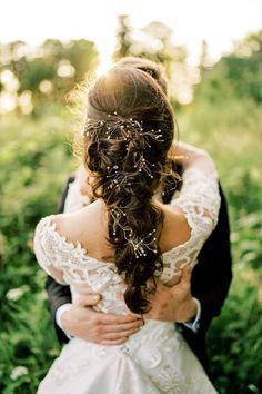 Erich and Katie tied the knot in an Irish Castle. Photo: Epic Love Photography Chignon Wedding, Beach Wedding Hair, Elegant Wedding Hair, Vintage Wedding Hair, Romantic Weddings, Bride Makeup, Wedding Hair And Makeup, Bridal Hair, Hair Makeup