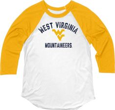 super popular 0132a 842ef WVU Women s Hadley Baseball Tee