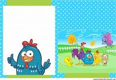 kit festa infantil capa livrinho para colorir galinha pintadinha azul grátis