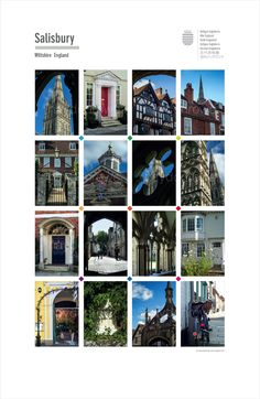 Salisbury. Posters of cities and towns @ theclassicpostercompany.com