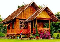 This is 2 storey modern design of Nipa Hut Philippines for more bahay kubo design , you just proceed here. Filipino Architecture, Bamboo Architecture, Filipino House, Bamboo House Design, Philippine Houses, Traditional House, Hotels And Resorts, My Dream Home, My House
