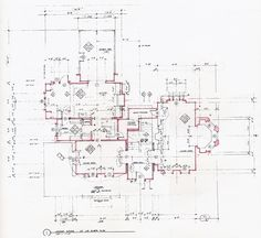 House plans from the movie Practical Magic. First floor.