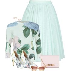 A fashion look from April 2015 featuring ted baker sweater, Ted Baker and black heeled shoes. Browse and shop related looks. Office Fashion, Work Fashion, Modest Fashion, Fashion Outfits, Womens Fashion, Modest Outfits, Classy Outfits, Beautiful Outfits, Cute Outfits
