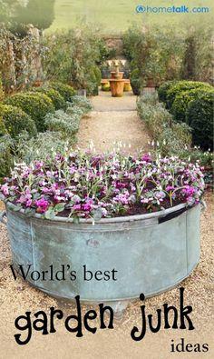World's BEST Garden Junk Ideas!