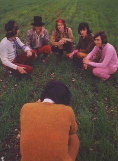 Glastonbury Festival Act. The Rolling Stones in Flower Children, The Rolling Stones, Charlie Watts, Anita Pallenberg, Patti Hansen, Mick Jagger, Woodstock, Bob Dylan, Rollin Stones, Photo Star