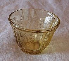Amber Madrid Depression Glass Jello Mold