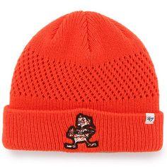 4399324b86d15 Women s Cleveland Browns  47 Brand Orange Poppie Cuffed Knit Hat