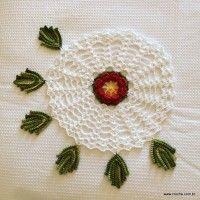 Trilho de mesa caminho de flores - passo a passo (131)