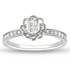 Miadora Signature Collection 14k Gold 1/4ct TDW Diamond Ring