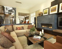 Family Room Television And Fireplace In One Room Design, Pictures, Remodel, Decor and Ideas - page 6