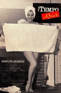 "MARILYN MONROE back cover NEW TEMPO & QUICK Nov 29 1954 (vintage pocket size 4.2x6"" mag). (please follow minkshmink on pinterest) #marilynmonroe #marilynmagazine"