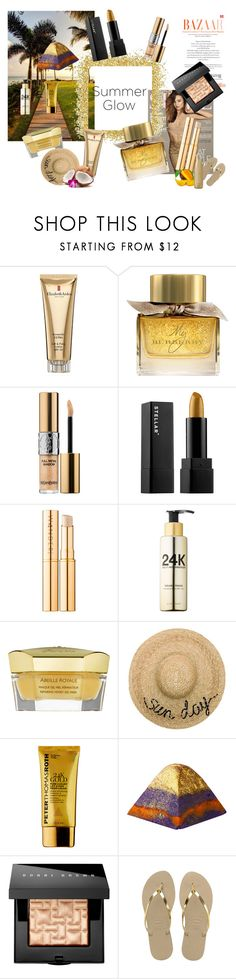"""Be The Sun"" by rachna-priyanka on Polyvore featuring beauty, Kerr®, Elizabeth Arden, Burberry, Yves Saint Laurent, Guerlain, Eugenia Kim, Peter Thomas Roth, Bobbi Brown Cosmetics and Havaianas"