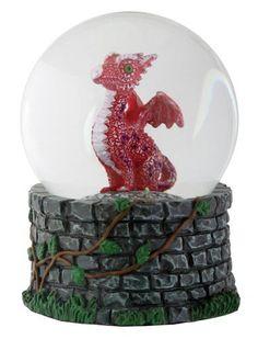 Mythical Red Baby Dragon Snow Globe Waterglobe Water Globe 65mm Collectible Trinket Statue Figurine , http://www.amazon.com/dp/B009T81IBO/ref=cm_sw_r_pi_dp_NxUxsb0Q9JKWM
