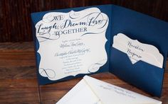 Pocket Wedding Invitations...style and practicality!