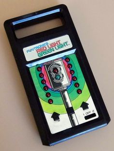 Vintage Mattel Funtronics Red Light - Green Light Electronic Handheld Game, Model 1604, LED, Made In Hong Kong, Circa 1979.