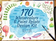 Watercolor Flowers and Plants DIY Bundle by Seyyahil on Etsy