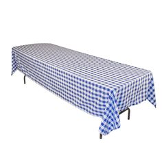 Amazon.com - LinenTablecloth 60 x 126-Inch Rectangular Polyester Tablecloth Blue & White Checker - Blue Gingham Tablecloth