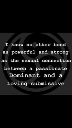 Domination True sex and submission
