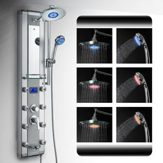 Best LED shower panel review ~ http://walkinshowers.org/best-led-shower-head-reviews.html#best-led-shower-head-4