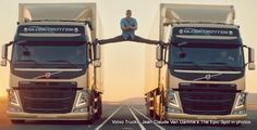 Funny pictures about Van Damme raises the bar. Oh, and cool pics about Van Damme raises the bar. Also, Van Damme raises the bar. Chuck Norris Memes, Volvo Ad, Volvo Trucks, Truck Drivers, Cannes, Claude Van Damme, Ron Burgundy, How To Do Splits, Alesso