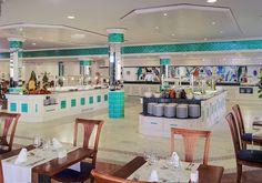 #Restaurante con azulejos #ArtAntic en color turquesa