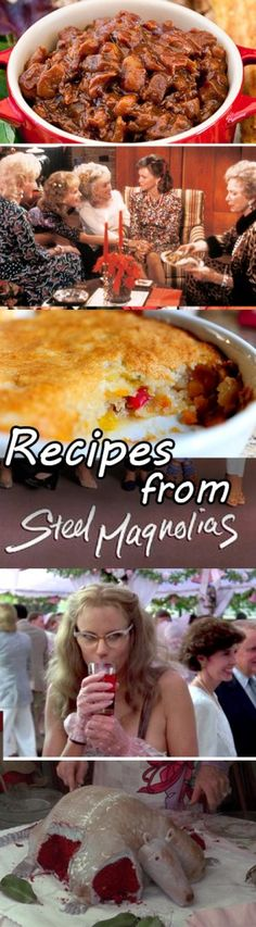 Movie Food from Steel Magnolias - recipe round up for bleeding armadillo red velvet cake, bourbon cherry coke, cuppa cuppa cuppa cake, and more