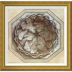 Global Gallery 'Design For a Fruit Bowl' by Giulio Il Romano Framed Painting Print Size: