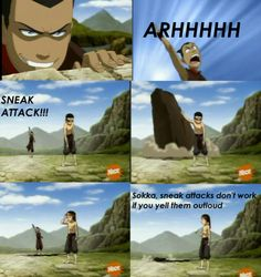 Sneak Attack! However in all other anime I have watched they announce their attack before they attack. Inuyasha for example;)