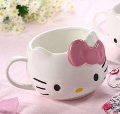Caneca Hello Kitty - Porcelana fina - Loja Perecoteco